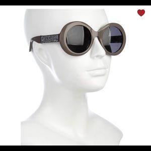 Jimmy Choo Wendy Round Glitter Sunglasses